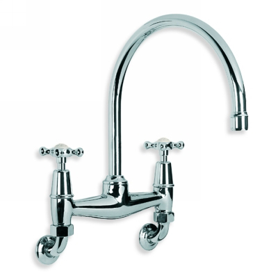 Lefroy Brooks Ch1518 Connaught Wall Mounted Kitchen Basin Bridge Mixer