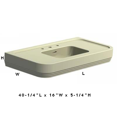 Lefroy Brooks Lb7833 Bel Air Three Hole Console Basin 39 4 100cm