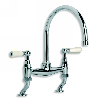 Lefroy Brooks Wl1518 Classic Wall Mounted Kitchen Basin Bridge Mixer With